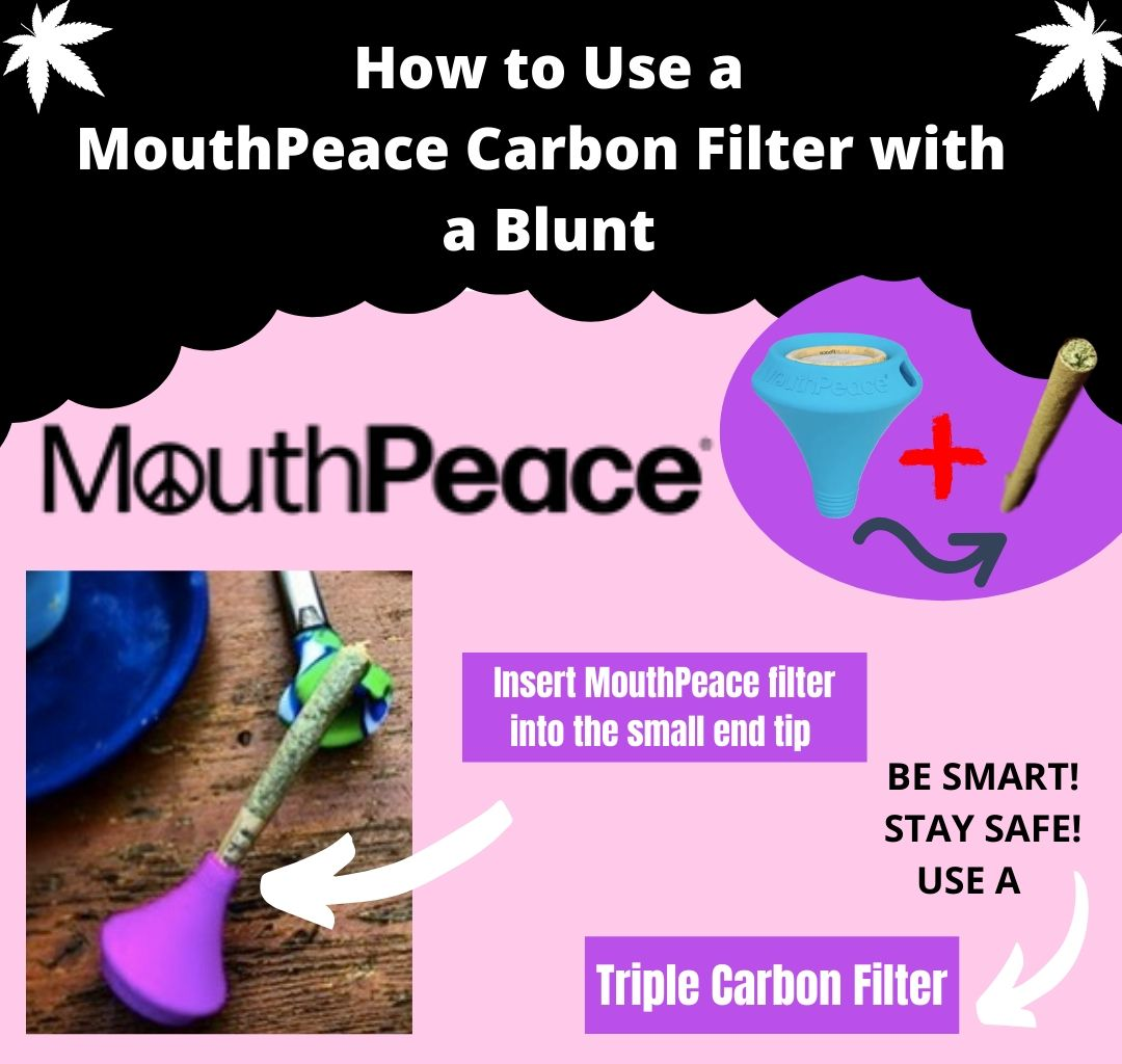 how to use a triple layer carbon filter with a blunt