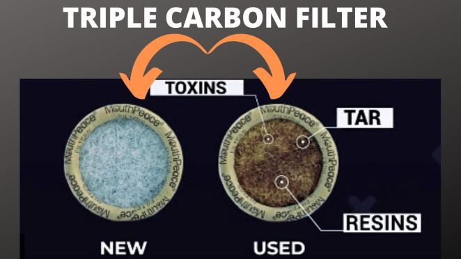 triple layered carbon filter for clean lungs