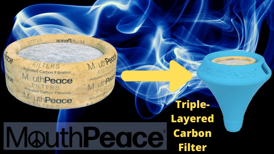 triple layered carbon filter for healthy way to smoke weed