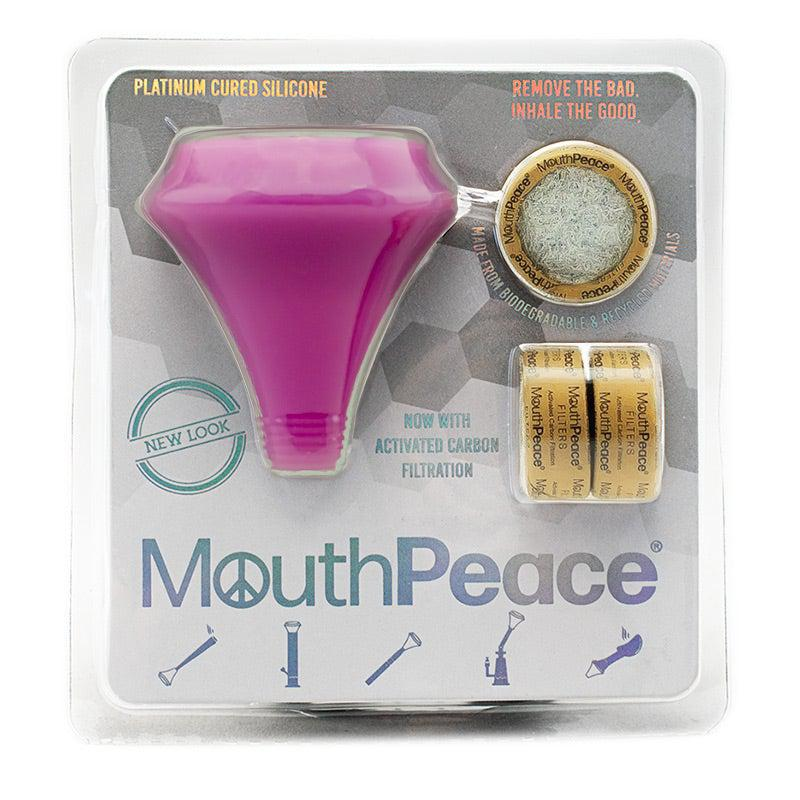 Glow in the dark purple mouthpeace carbon filter