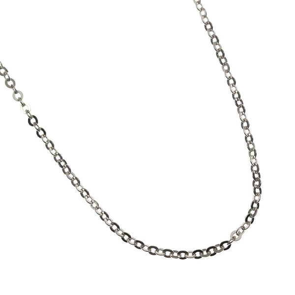 "Anchor Adjust Chain(16""-18"") White Gold"