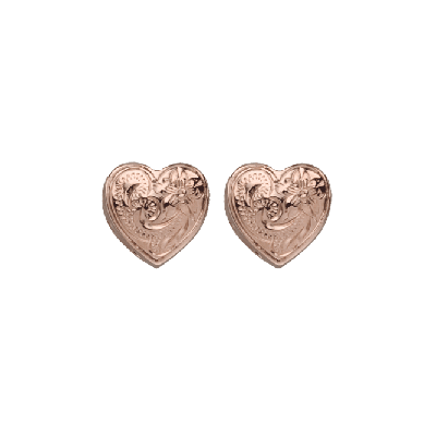 Heart Earrings Rose Gold