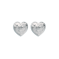 Heart Earrings White Gold