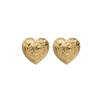Heart Earrings Yellow Gold