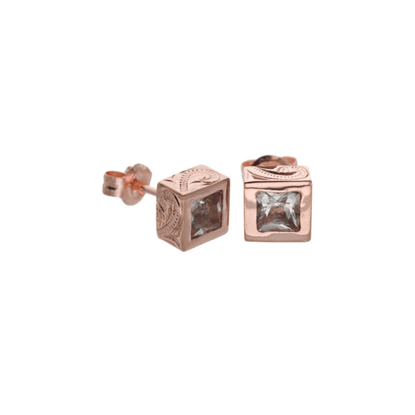 Topaz Earring Pink Gold