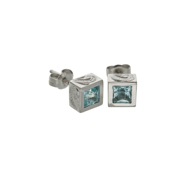 Topaz Earring White Gold