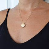 Scallop Seashell Yellow Gold