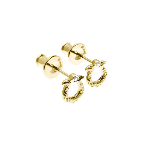 Horseshoe earrings Yellow Gold