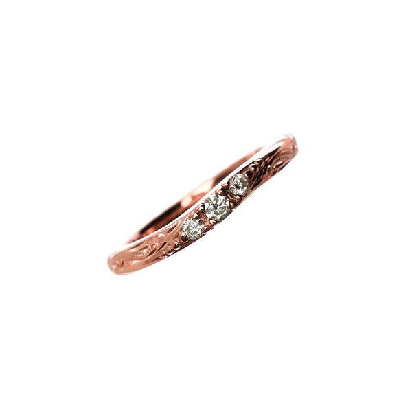 Calm Wave Ring Rose Gold