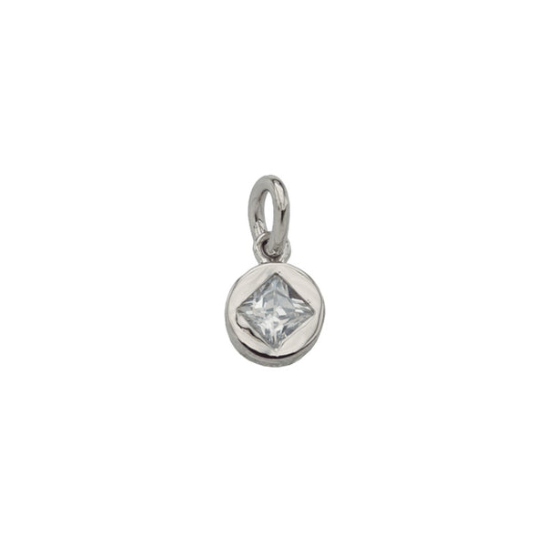 Zirconia Pendant White Gold