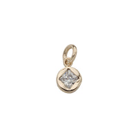 Zirconia Pendant Yellow Gold