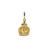 Crown Pendant + CZ Yellow Gold*SALE*