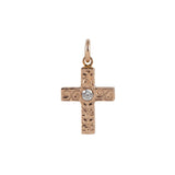 Cross Pendant+CZ PINK GOLD*SALE*