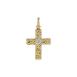 Cross Pendant+CZ YELLOW GOLD*SALE*