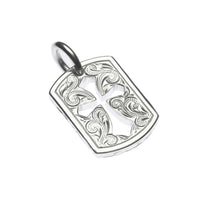 Square Cross Pendant Silver