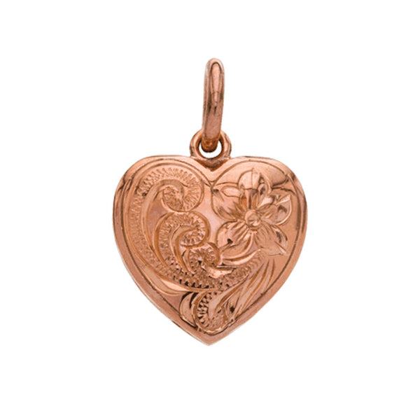 Heart Pendant Large Pink Gold*SALE*