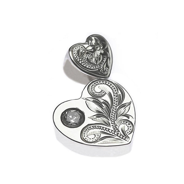 Double Heart Pendant Silver