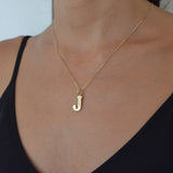 Initial Pendant J Medium *SALE*