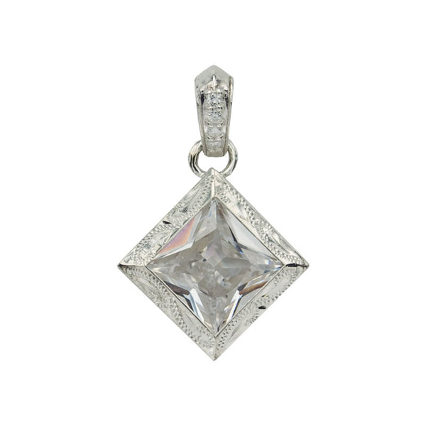 Cubic zirconia Pendant White Gold*SALE*