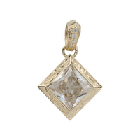 Cubic zirconia Pendant Yellow Gold*SALE*