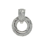 Circle Pendant Top White Gold