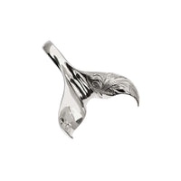 Whale Tail Pendant White Gold