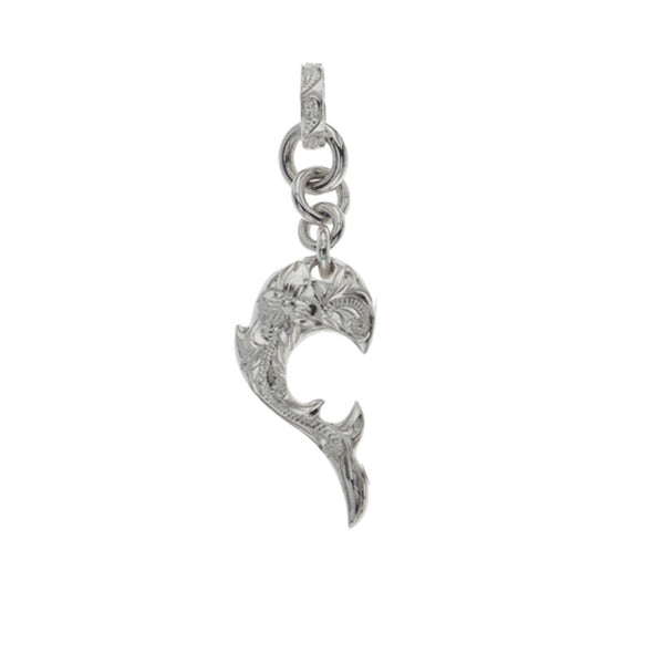 Dolphin Wave Pendant Small Silver