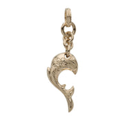 Dolphin Wave Pendant Small Yellow Gold