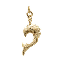 Dolphin Wave Pendant Large Yellow Gold