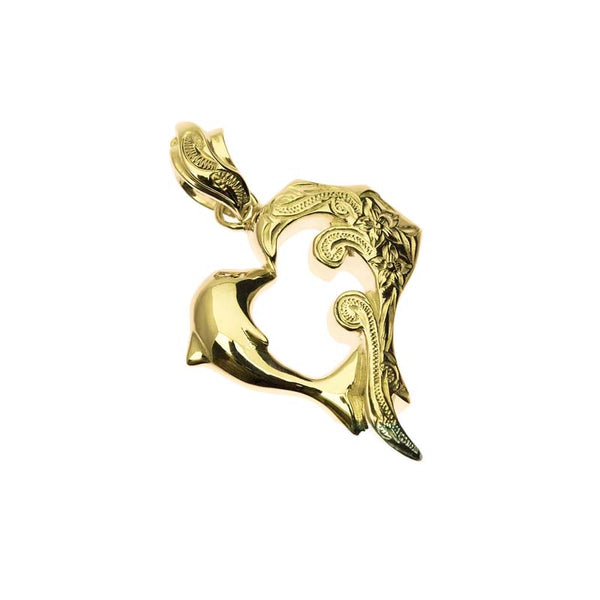 Dolphin Pendant Yellow Gold