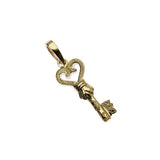 Key Pendant Yellow Gold