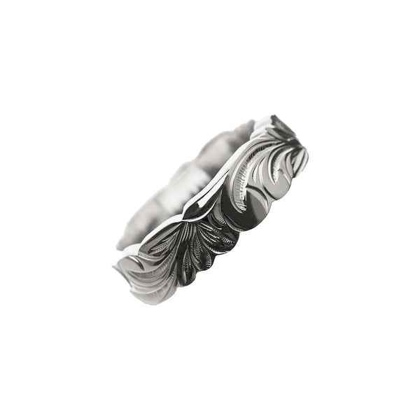 Kinolau Ring White Gold 06mm Flat