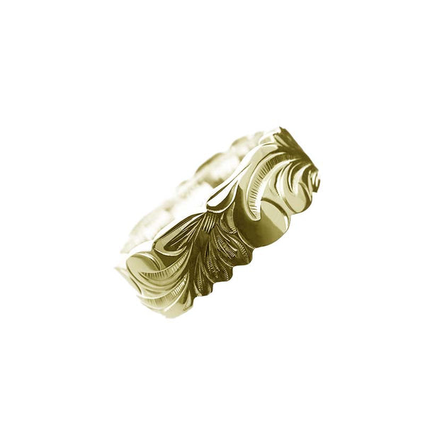 Kinolau Ring Yellow Gold 08mm Flat