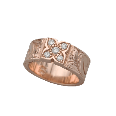 Colver Ring 8mm Rose Gold