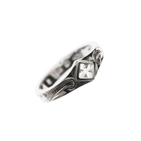 Cross Pinky Ring White Gold