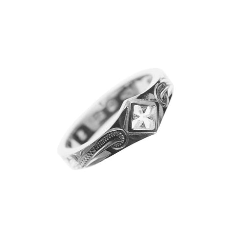 Cross Pinky Ring Silver