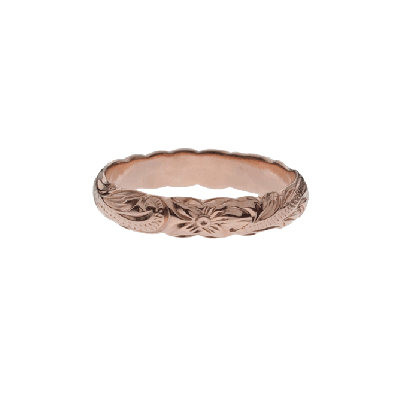 Barrel Pinky Ring Rose Gold