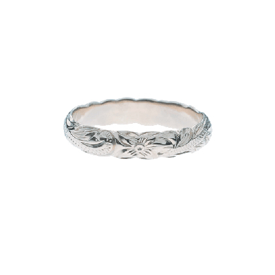 Barrel Pinky Ring White Gold