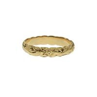 Barrel Pinky Ring Yellow Gold