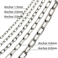 Anchor Chain 925 Silver 3.0mm