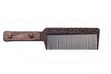"""The Master"" Copper Envy Flat Top Comb w/ Wood Handle"