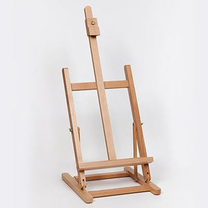 This large table easel has an adjustable back angle and easily packs flat to store in a wardrobe or vertical storage cupboard.