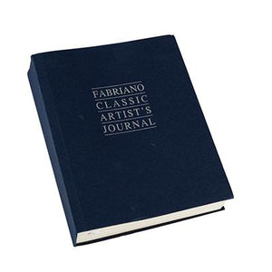 "Fabriano Artist's Journal in the ""Classic"" version, with a beautiful navy blue cover. Available in two sizes each with 192 Sheets."