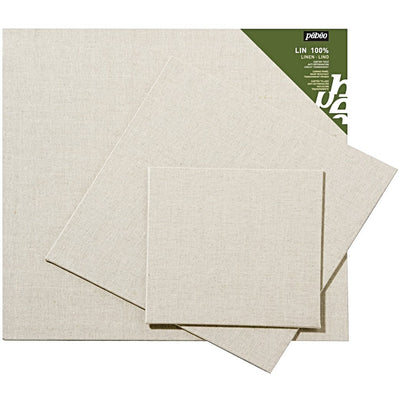 Pébéo Linen Canvas Panels/Board are covered in 330g natural linen