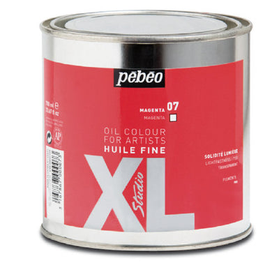 Pébéo XL Fine Huile Magenta 650ml tin. Pébéo XL oil is suitable for all techniques, from glazes to thick layers and can be used in conjunction with many mediums.