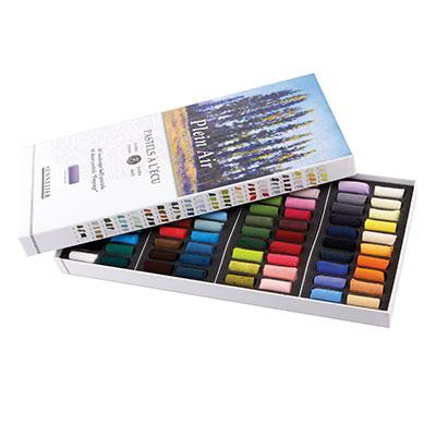 This set of 80 half sizes Soft Pastels has been selected for a landscape style colour range.