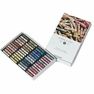 The Sennelier Soft Pastel Set consists of 48 Portrait Colours in a cardboard boxed set of 48 extra soft pastels in soft flesh tones and dark shadows.  The Sennelier Soft Pastel Set consists of 48 Landscape Colours in a cardboard boxed set of 48 extra soft pastels in soft green and blue colours.