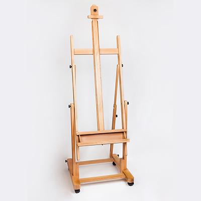 Studio Easel – Heavy Duty H-frame holds canvasses up to 120cm.