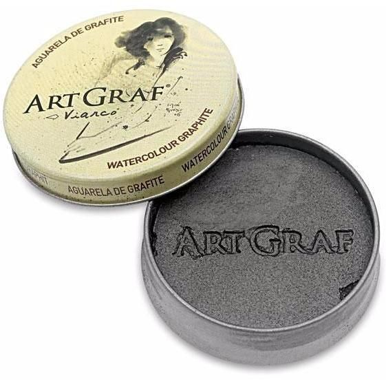 artgraf is a water soluble graphite in a tin 20g very expressive offering an artist an extensive scale of graphite grey ranging from the deep blacks to more subtle brighter and more transparent ones