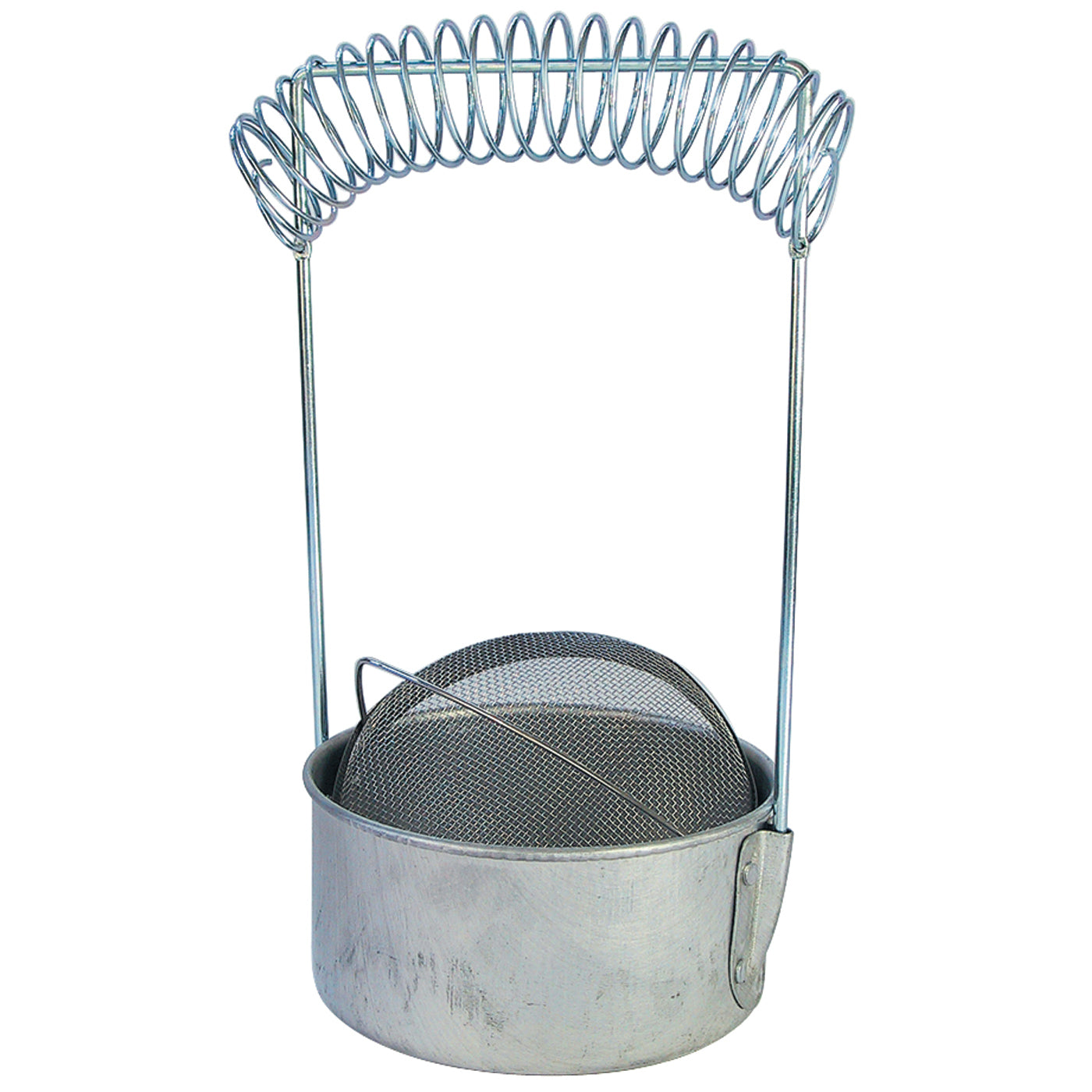 Economical aluminium brush washer with spiral brush drying rack.